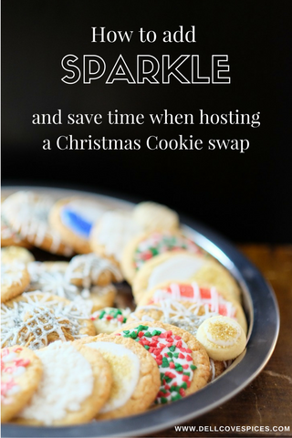 Easy Christmas Cookies - How to Add Sparkle (and Save time) at your Christmas Cookie Swap Party