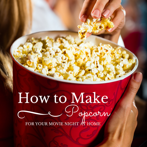 How to make popcorn by stovetop from Dell Cove Spice Co
