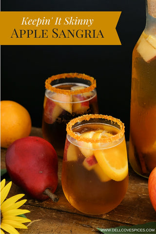 Autumn Apple Sangria skinny cocktail recipe by Dell Cove Spice Co