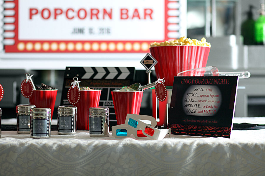 Printable Popcorn Bar Decorations by Dell Cove Spices and More Co.®