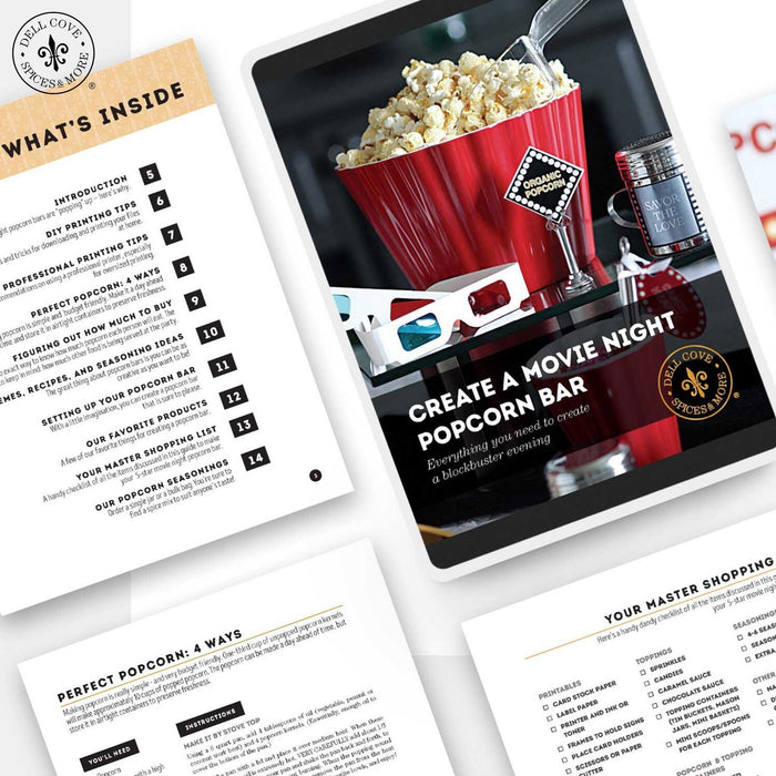 eBook: How To Create a Movie Night Popcorn Bar