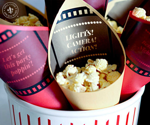 Printable Movie Night Popcorn Bar: Popcorn Cones