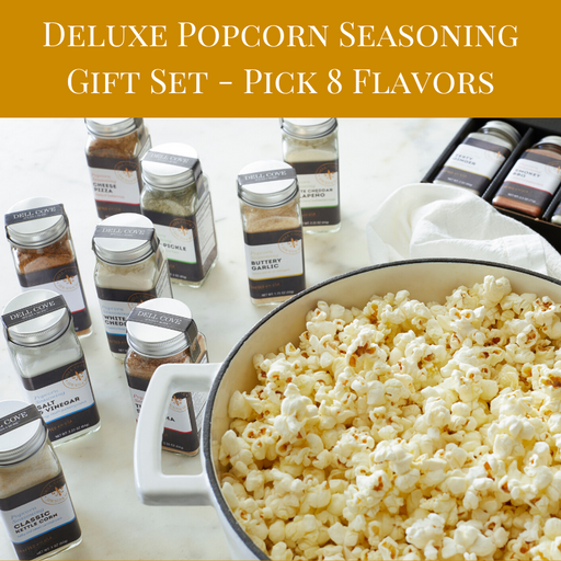 Custom popcorn seasoning gift set of 8 popcorn spices - dell cove spices and more