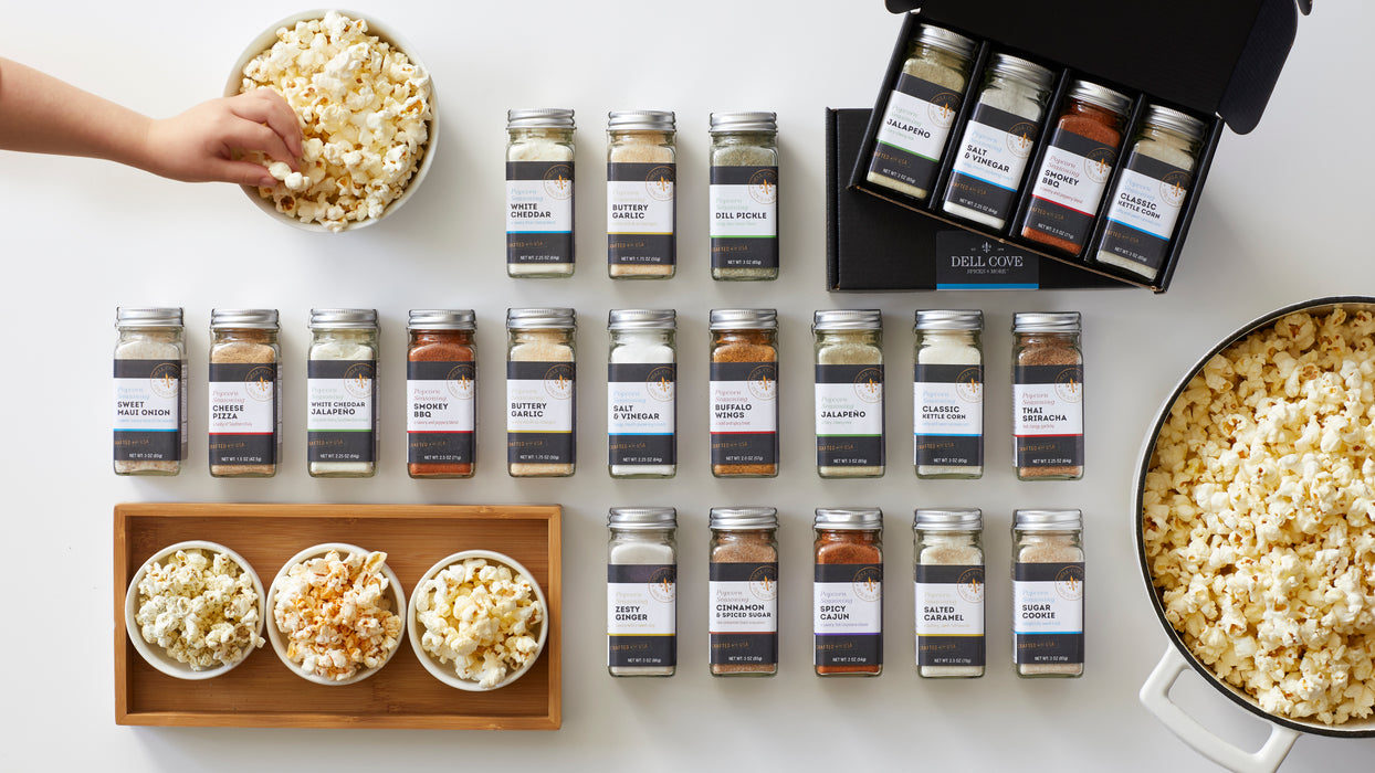 Create your own popcorn seasoning gift set - personalized popcorn seasoning gift box