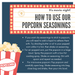 how to use popcorn seasonings - dell cove spices and more co