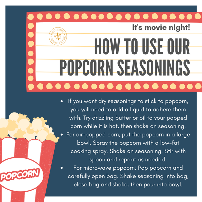 How to use Dell Cove Spices and More popcorn seasoning