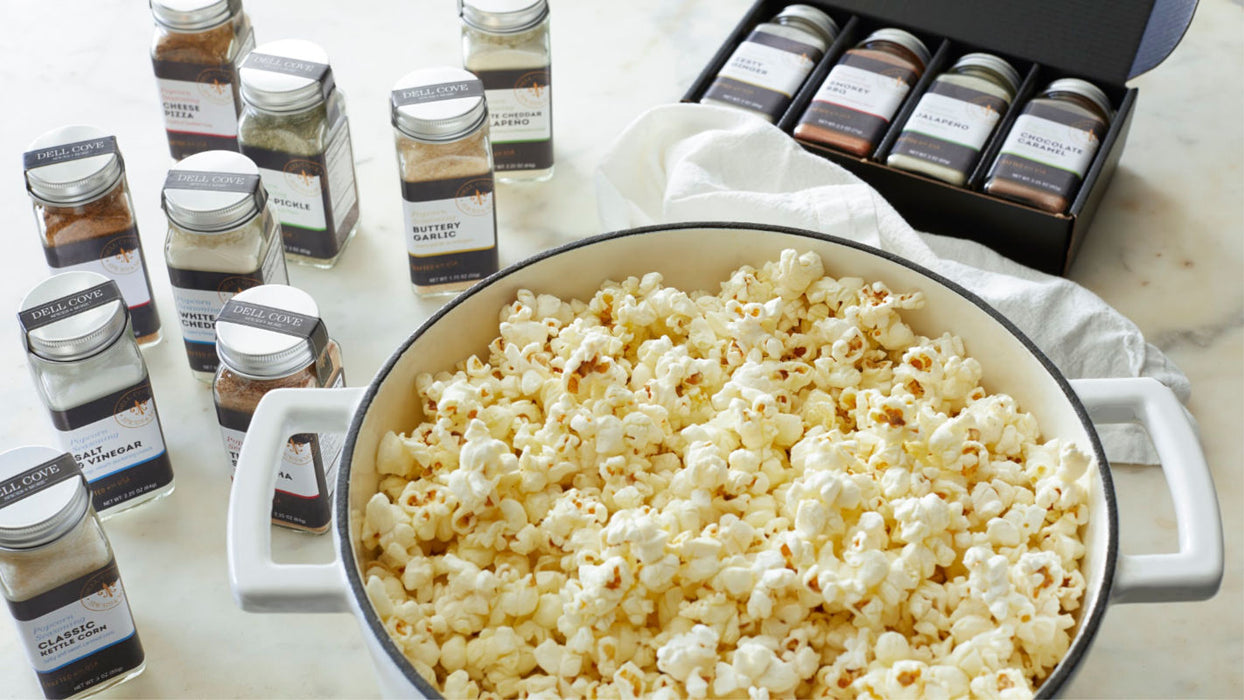 Personalized Popcorn & Seasonings Gift Set - Deluxe 4 jar set