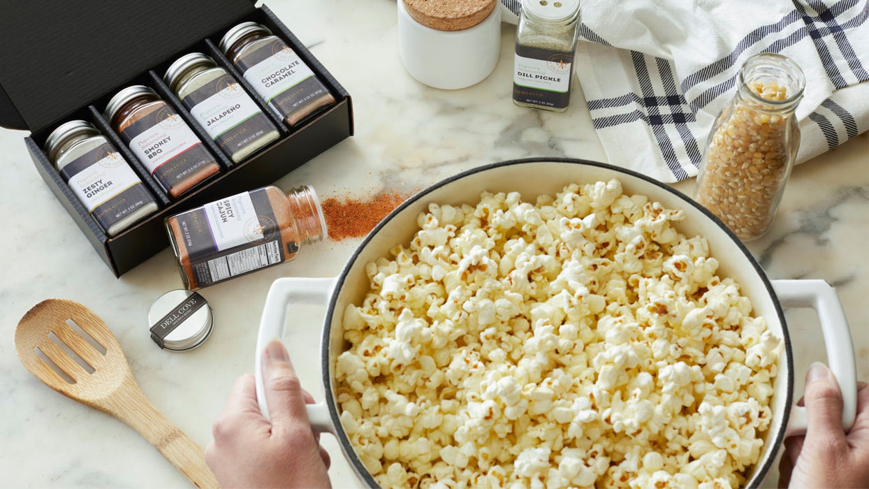 Make your own popcorn seasoning gift set