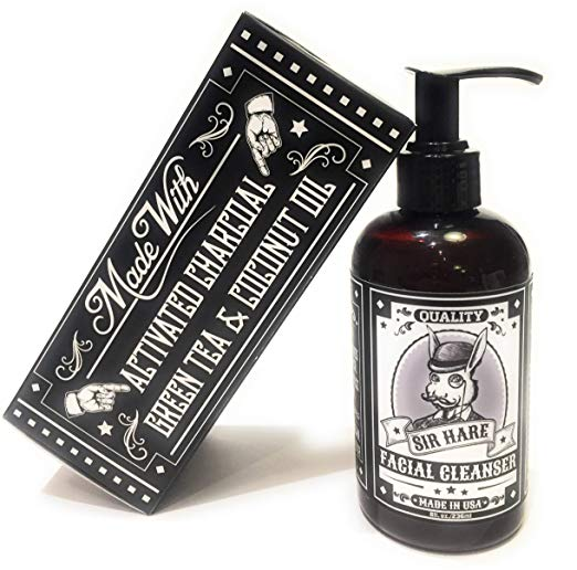 Face Wash- Made with Activated Charcoal and Green Tea- Large 8 oz. Bottle