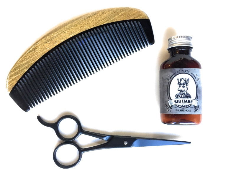 Beard Kit - Comb, Beard Oil, Scissors