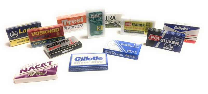 Find the perfect safety razor blade for you with a sampler pack.