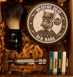 Shaving Gift Set - includes everything you need to start wet shaving