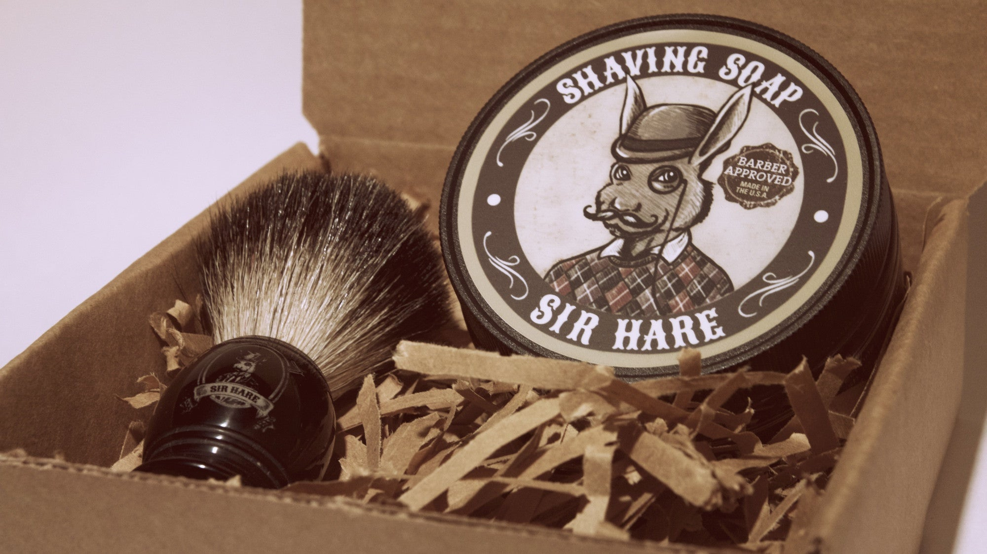 Shaving Soap and Brush Kit