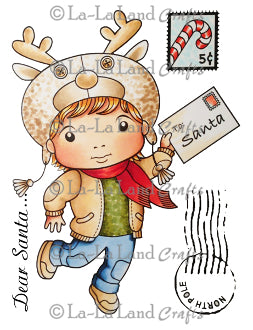 La La Land 'Letter to Santa Luka' (with Accessories and Sentiment) Rubber Stamp