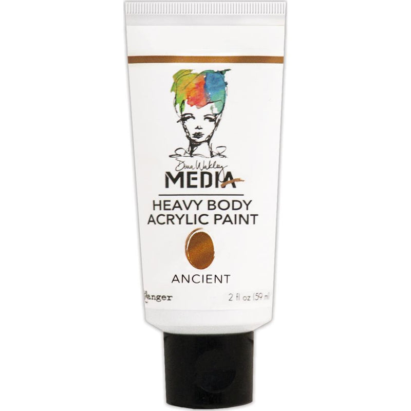 Dina Wakley Media Heavy Body Metallic Acrylic Paint - Ancient