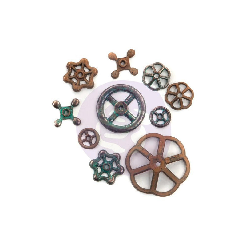 Finnabair Mechanicals - Metal Embellishments - Rusty Knobs