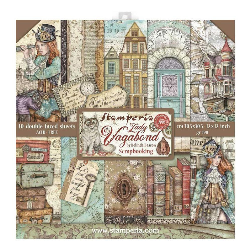 Stamperia Double-Sided Paper Pad - Lady Vagabond
