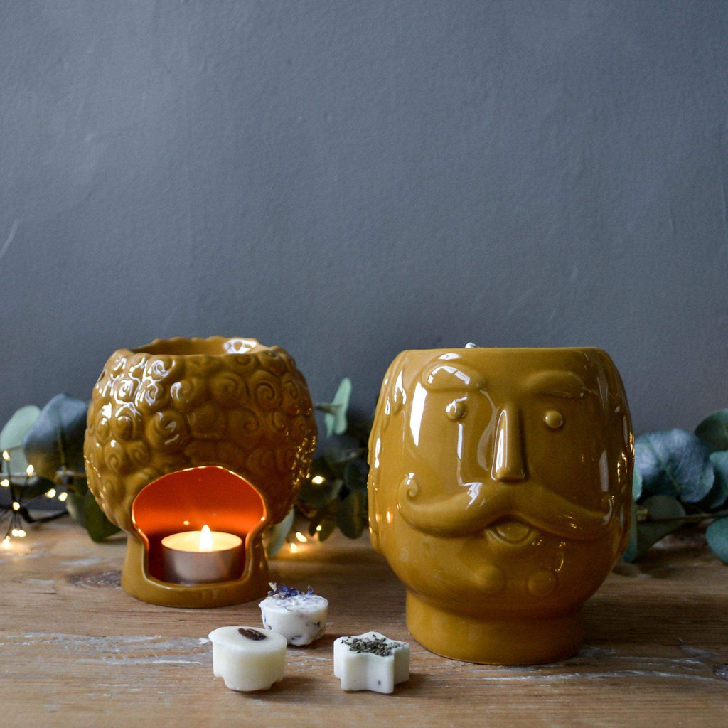 Mustard Retro Face Oil Burner - Liv's