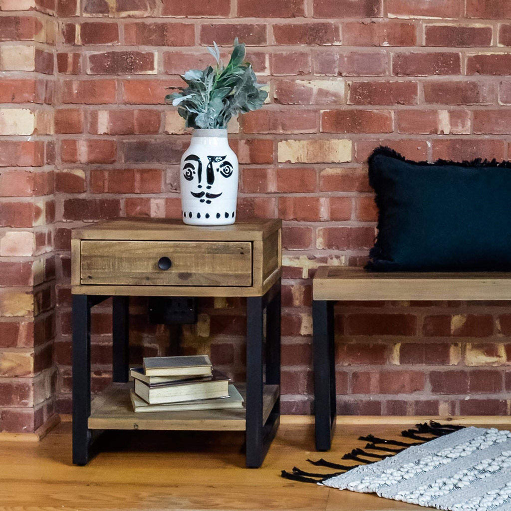 Boston - Lamp Table with Drawer - Liv's