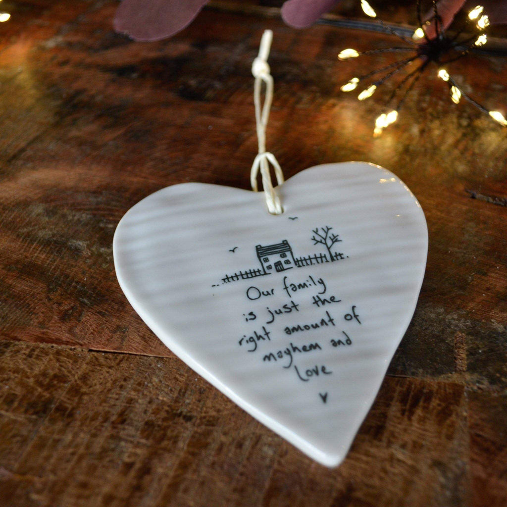 Porcelain Wobble Heart - Our Family... - Liv's