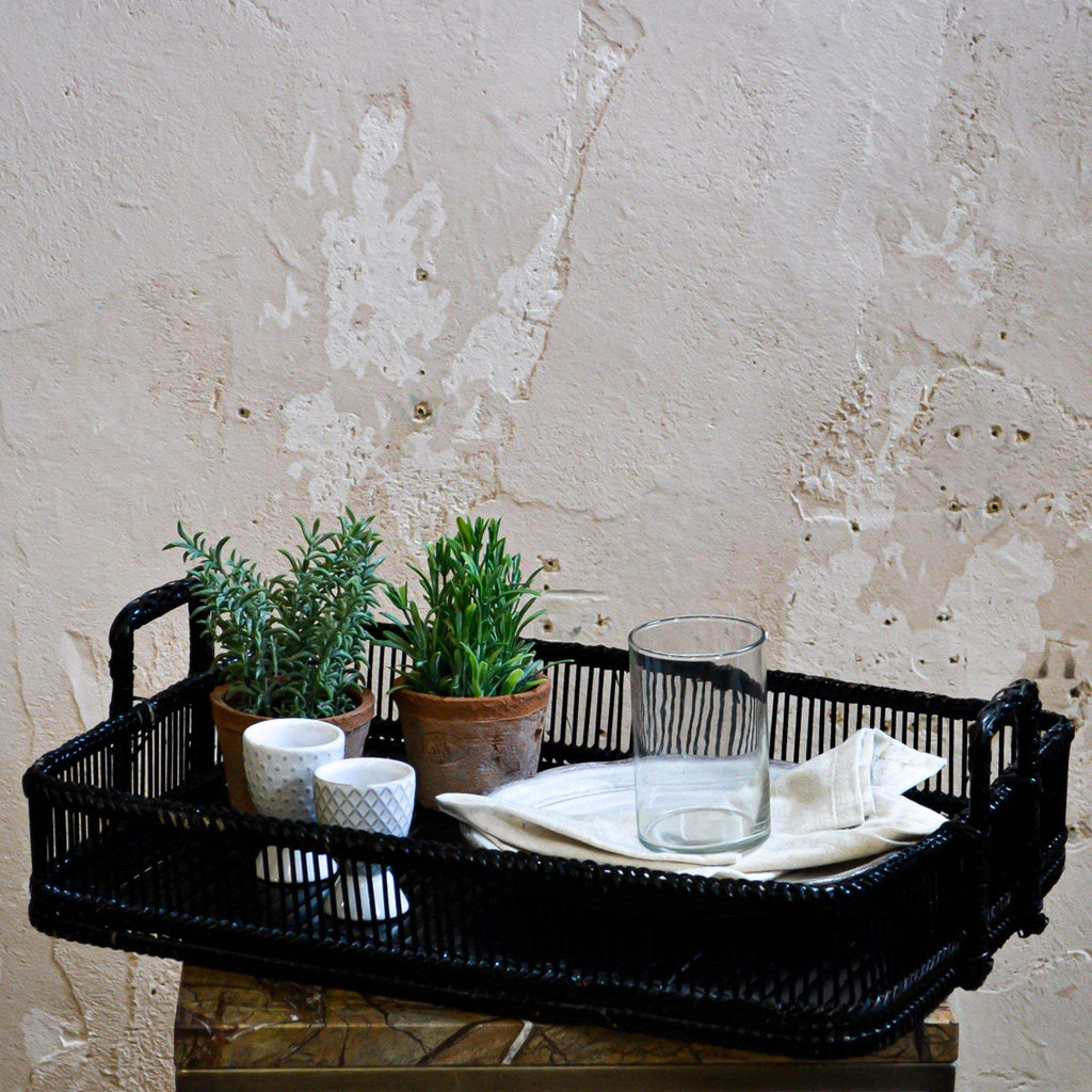 Black Bamboo Tray - avail. in 2 sizes - Liv's