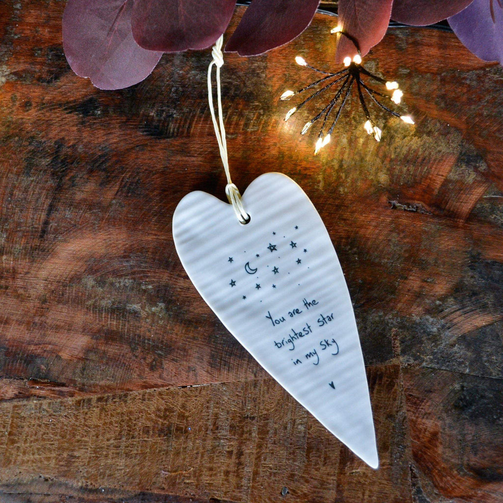 Porcelain Long Heart - You are the Brightest Star - Liv's