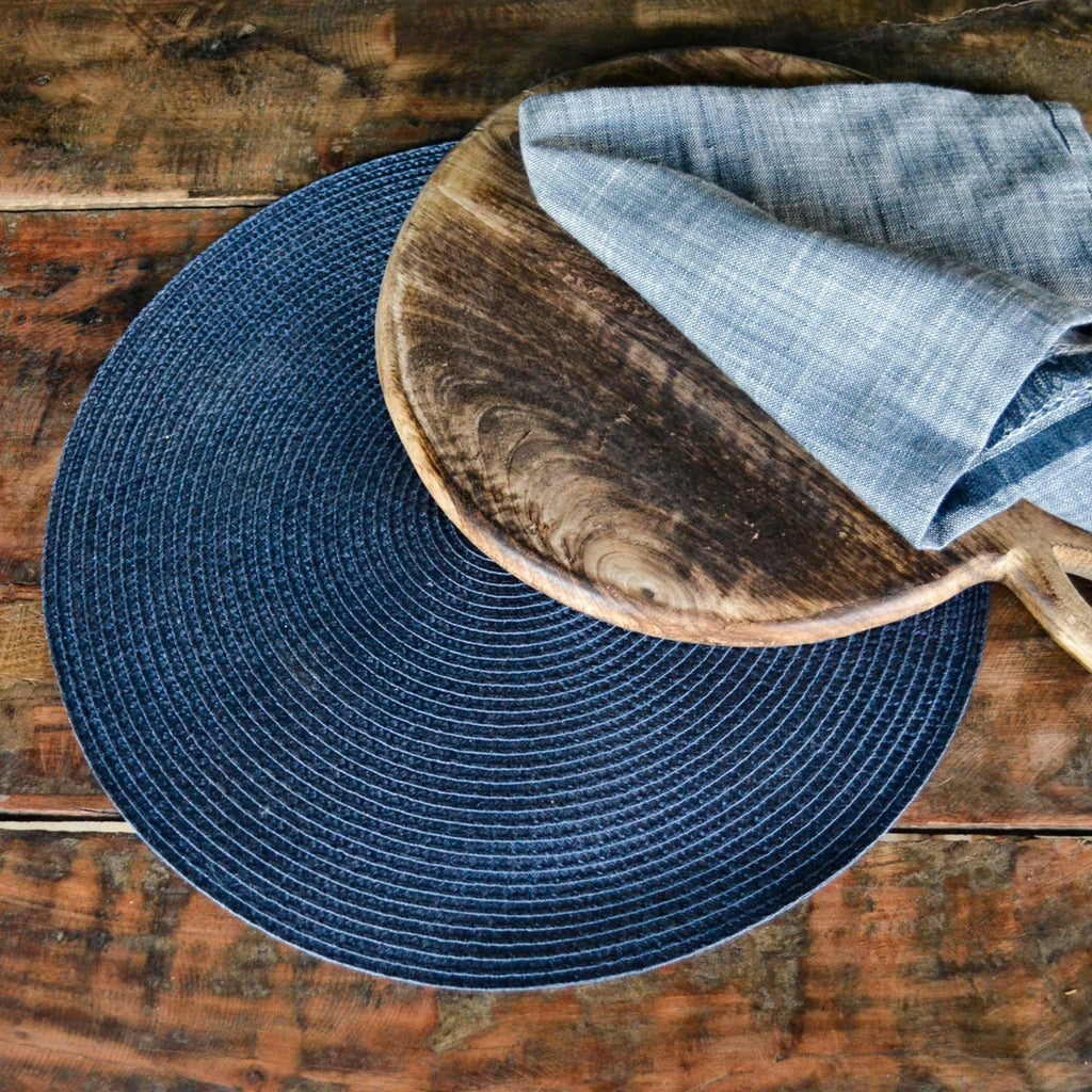 Round Placemat - Slate Blue - Liv's