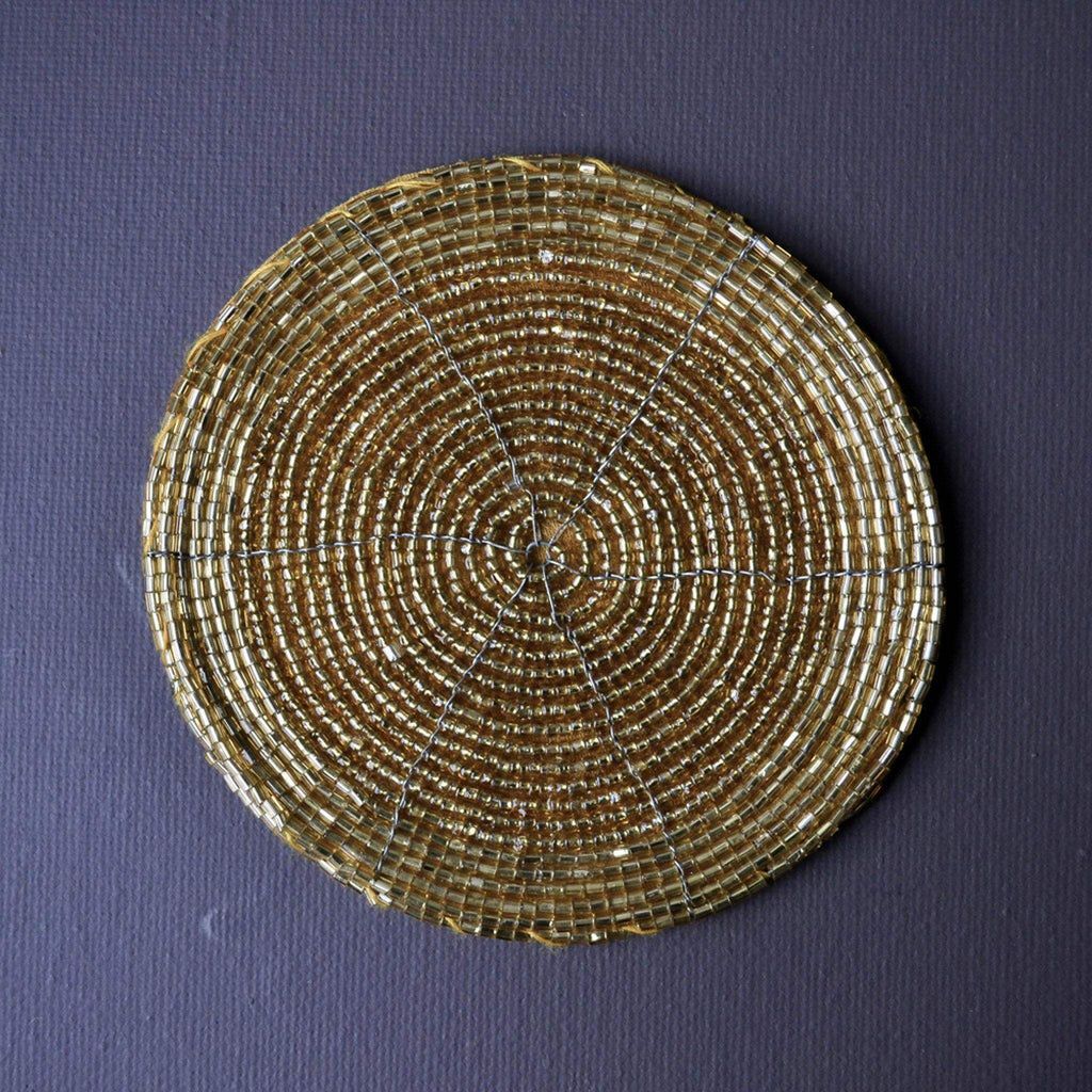 Coaster, Round Beaded - Gold - Liv's