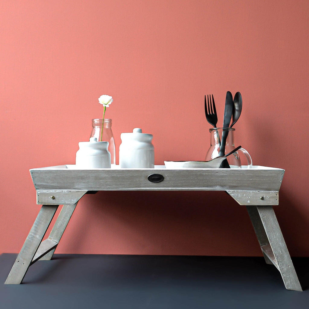 White Breakfast Tray Stand - Liv's
