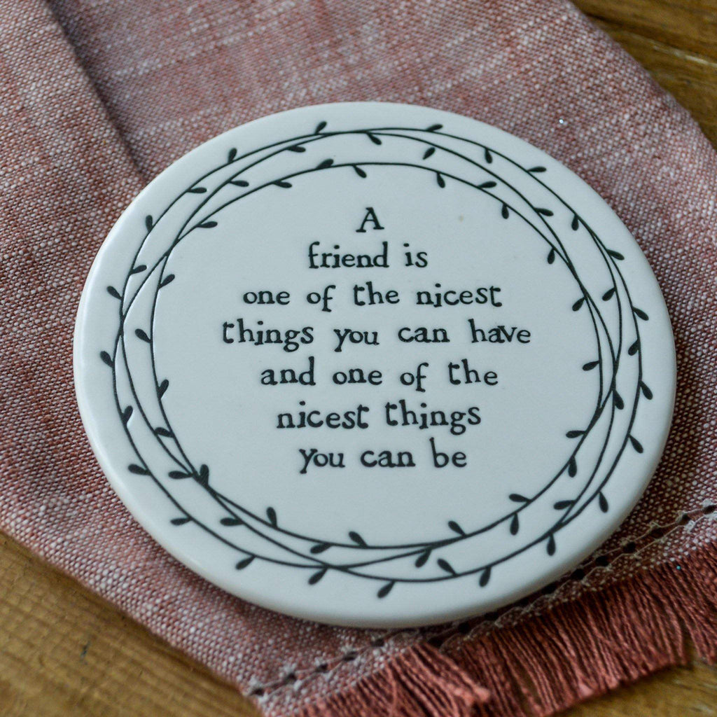Porcelain Leaf Coaster - Friend is nicest... - Liv's