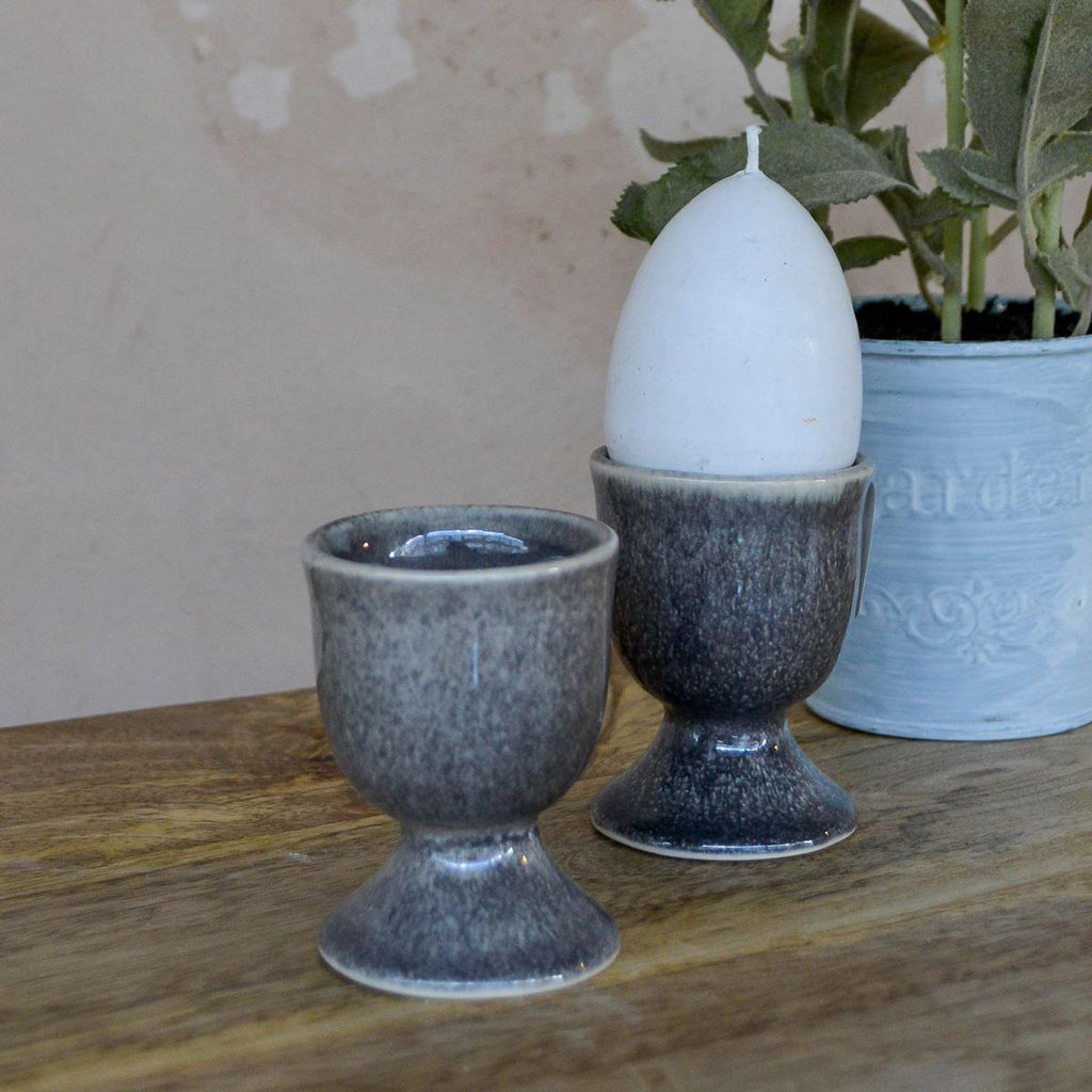 Egg Cup - Mottled Grey Ceramic - Liv's