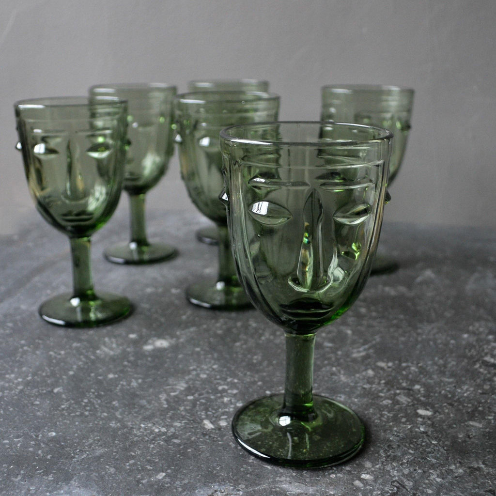 Face Deco Glasses Set 6 - Green - Liv's