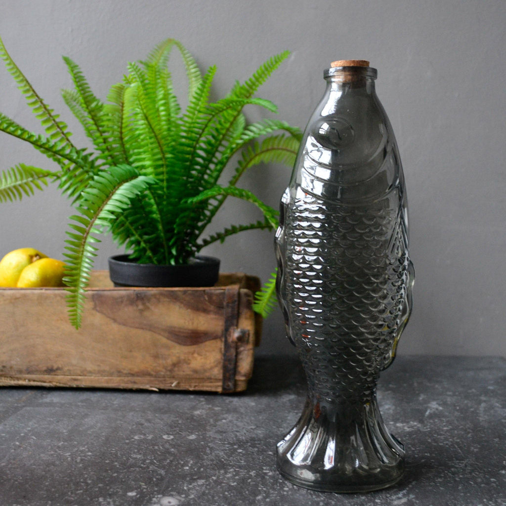 Fish Bottle with Cork - Available in 3 Colours - Liv's
