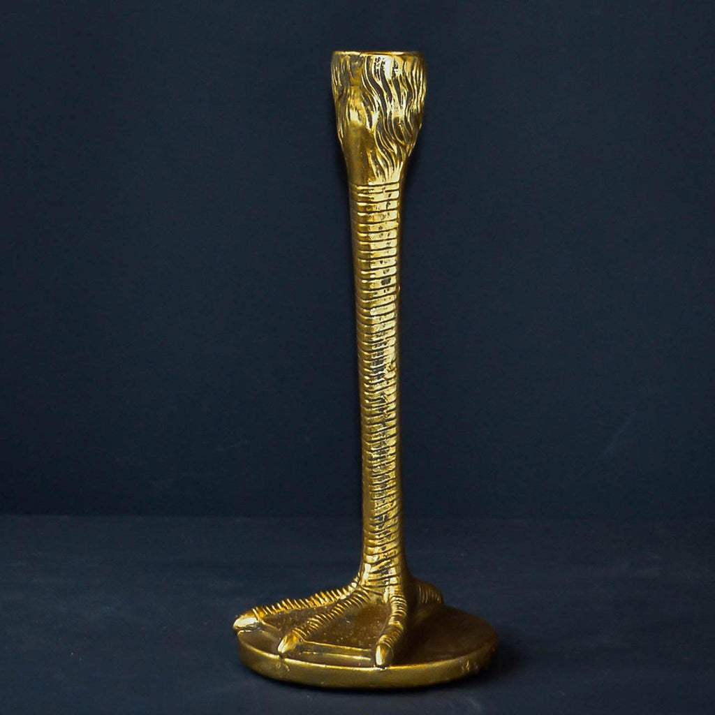 Gold Bird Leg Candle Stick - Liv's
