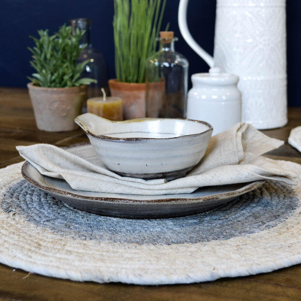 Seagrass Round Placemat - Blue Natural - Liv's