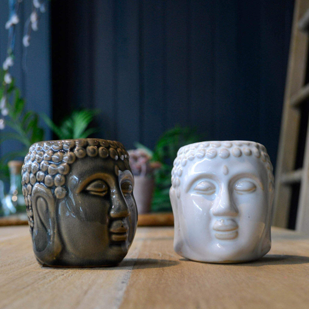 Ceramic Buddha Head Oil Burner - Liv's