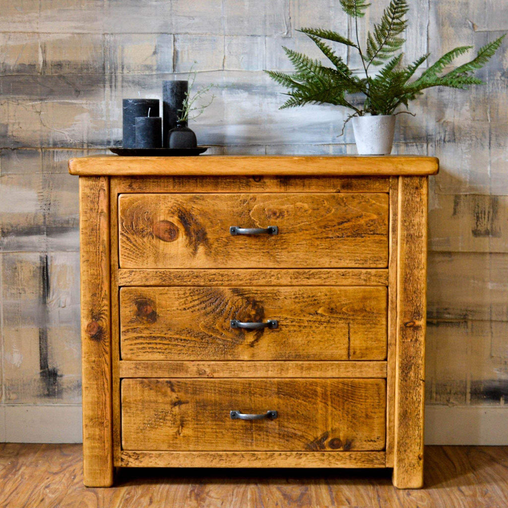 Sherwood 3 Drawer Low Chest - Liv's