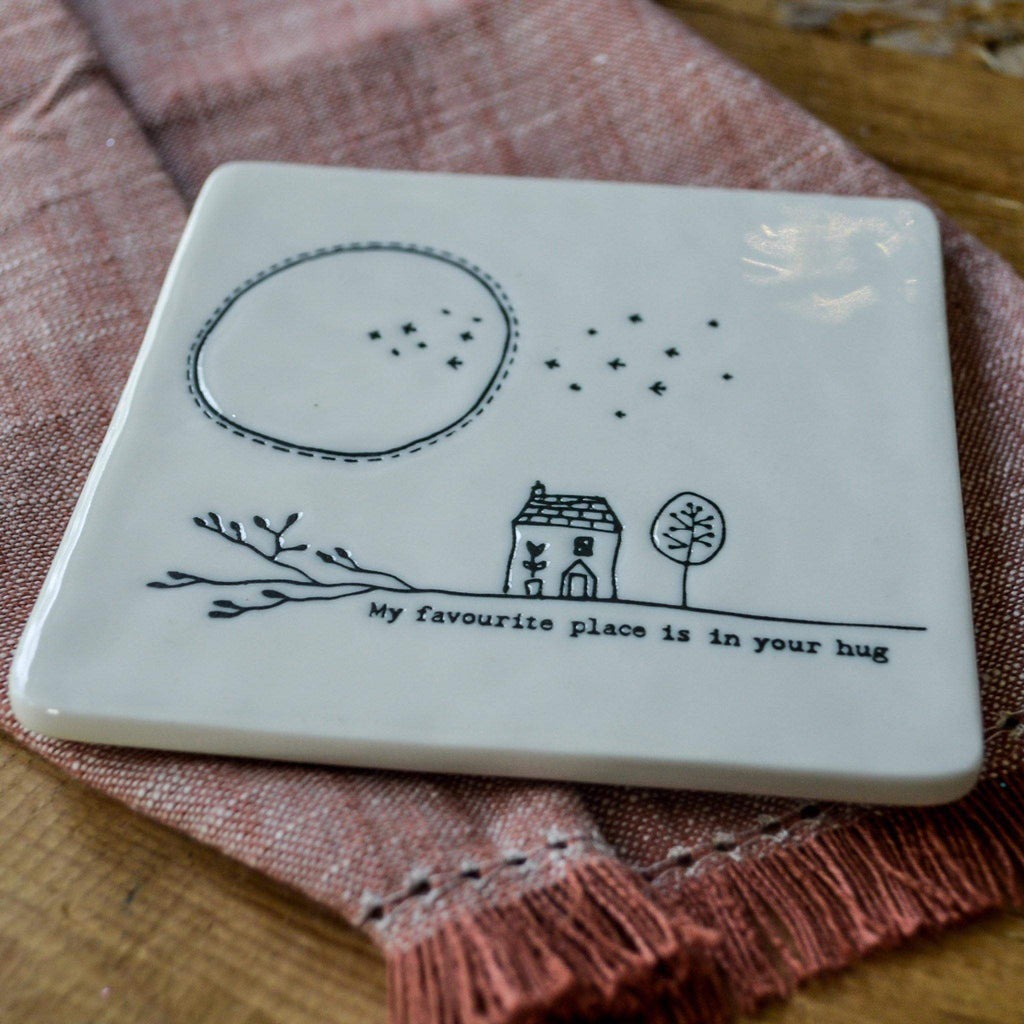 Porcelain Coaster - In your hug... - Liv's