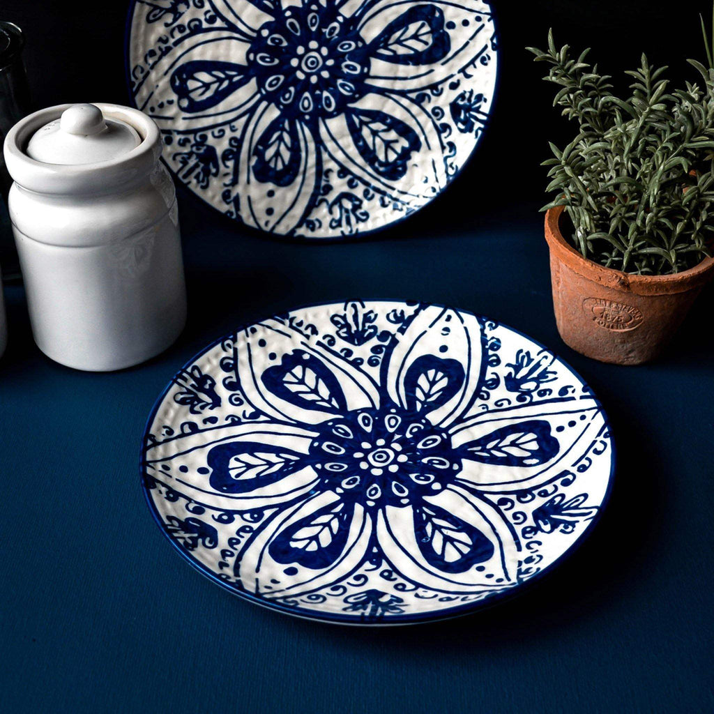 Blue Patterned Side Plate - Liv's