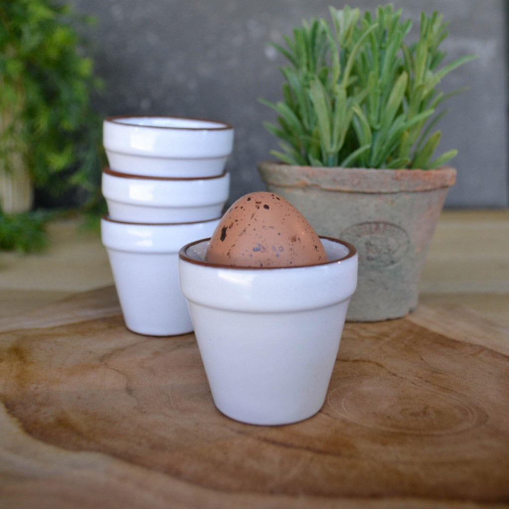 White Flower Pot Egg Cups - Liv's