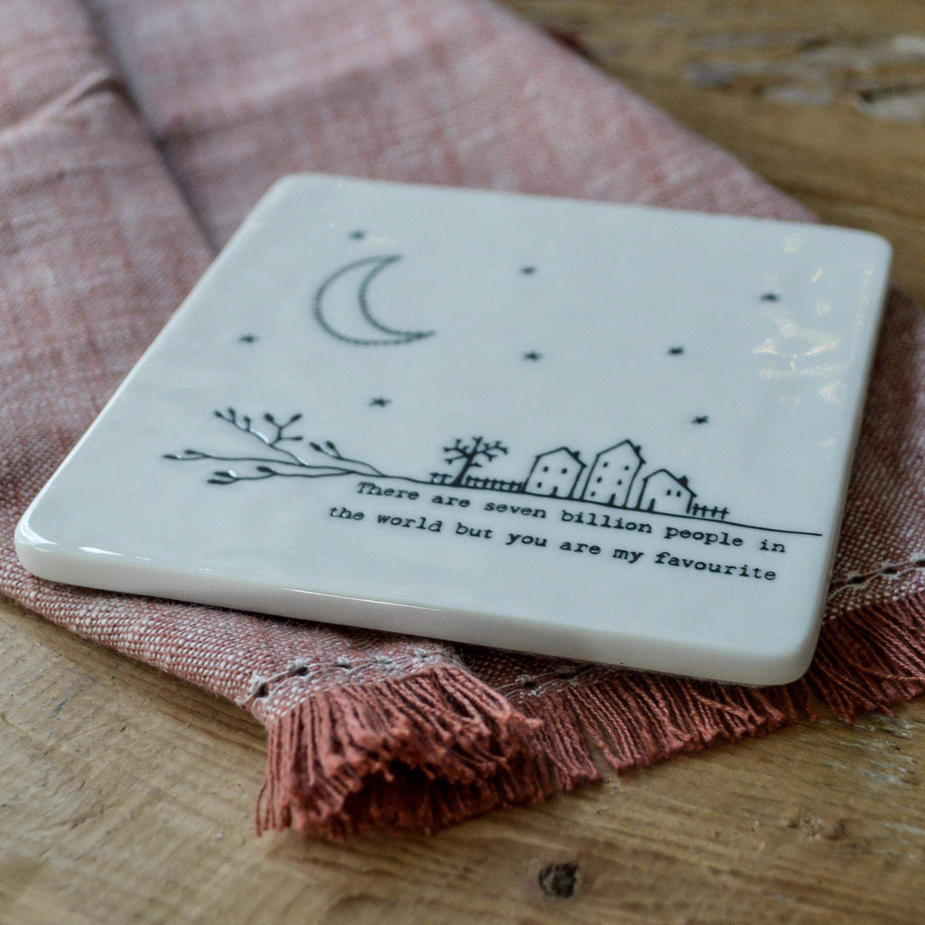 Porcelain Coaster - Seven Billion People - Liv's