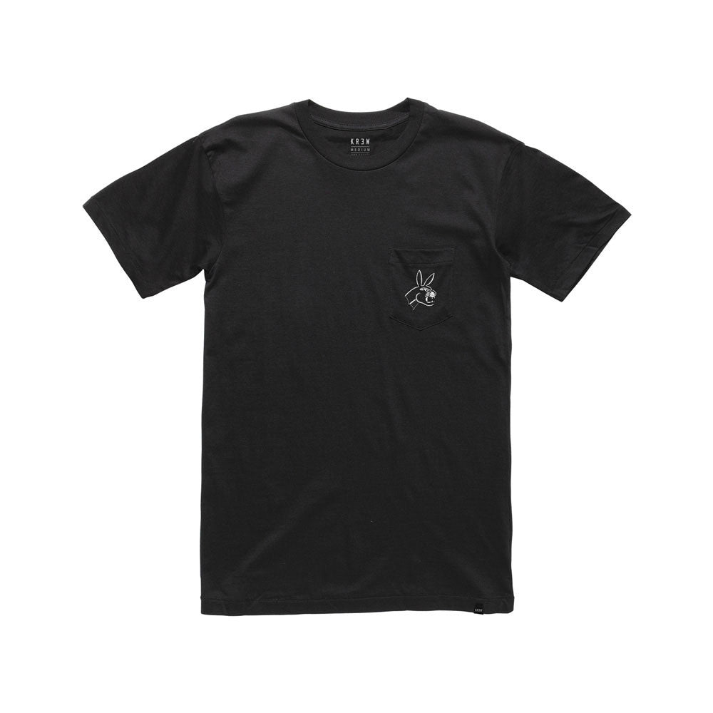 Black t shirt front view - Panther Bunny Front View