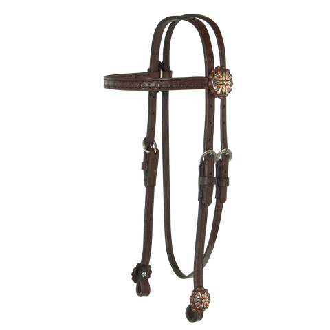 Circle Y Copper Mine Browband Headstall