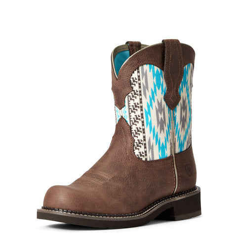 Ariat Women's Fatbaby Dark Cottage Heritage Twill Western Boot