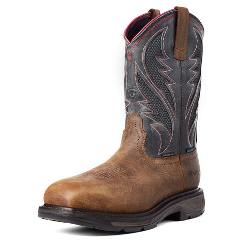 Ariat Men's WorkHog VentTEK Waterproof Rye Carbon Toe Work Boot