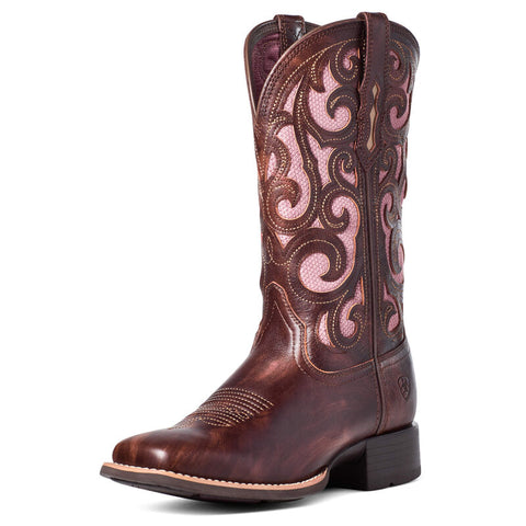 Ariat Women's Karma VentTEK Yukon Brown Western Boot