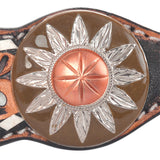 Circle Y White Daisy Filigree Browband Headstall