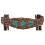 Molly Powell Turquoise + Rawhide Browband Headstall