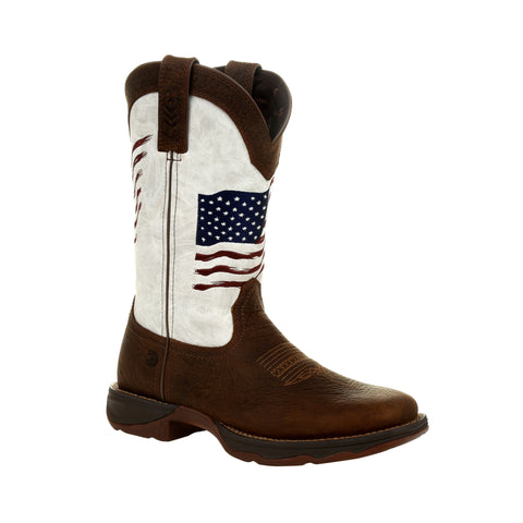 Durango Women's Rebel Distressed Flag Embroidery Western Boot