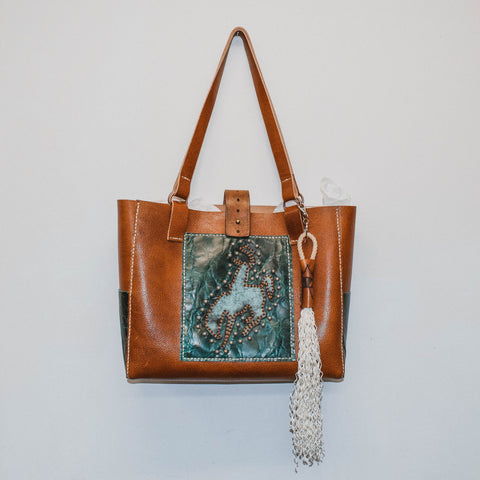 Bucking Horse Tote Bag